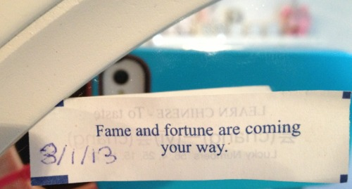 ok fortune cookie, I could use some good news right about now