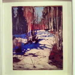 Love this Tom Thomson piece #AGO