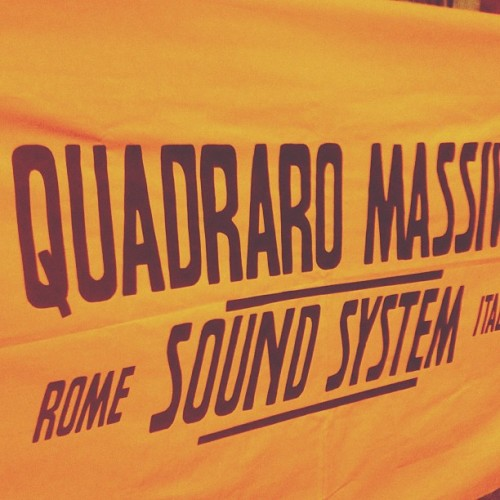 Quadraro Massive Sound System. #typography #lettering #customtype #qm #quadraromassive #flag