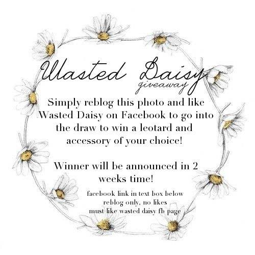 "wasteddaissy:  Reblog only, no likesMust like ""Wasted Daisy"" on Facebook Do not delete this textWinner drawn in 2 weeks!Good luck!"