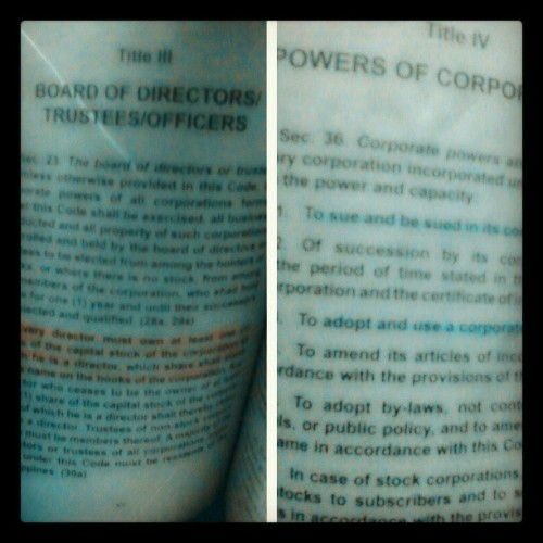diz iz it..review review din.pag may time.. #Law2 #corporation #recitation #TagsForLike #photooftheday  #powers #boardoftrustees  (at Sylvia, Manila)