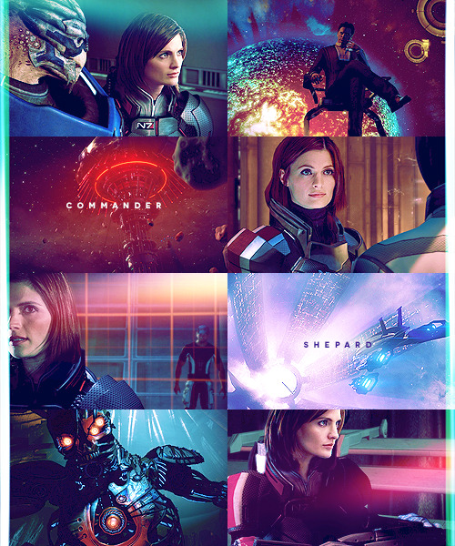 "robinhook:   Stana Katic as FemShep (because let's be honest, she kicks ass)  ""You're unique. Not just in terms of what you've accomplished, but what you represent."""