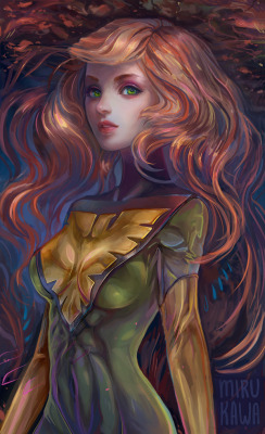 Jean Grey by *mirukawa —-x—- More: | Marvel | Random |