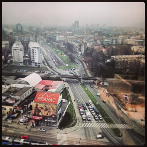 Grad #Zagreb #city #traffic #view (at Vjesnikov neboder)