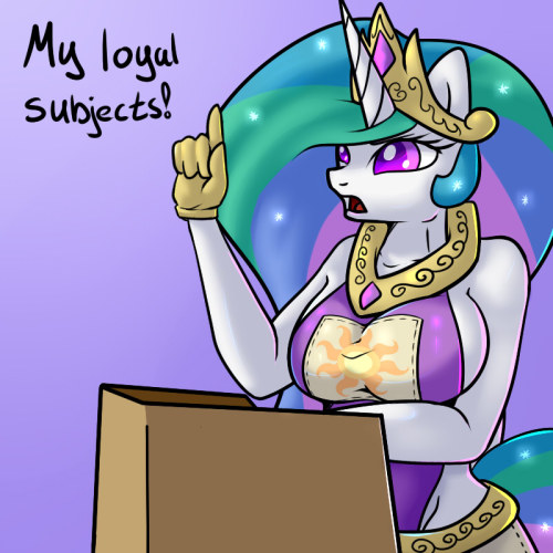 My loyal subjects. I have an announcement for all ponies. From now on there will be a Changeling living in Ponyville. But don't be afraid. This Changeling is not like others, not for now. She has lost her memory and thus we can try and raise her as a proud member of our society. But I need all your help. Remember ponies: Friendship Is Magic.