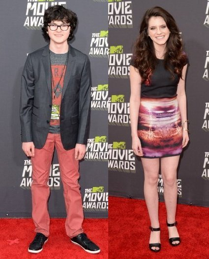 agoraathens:  The two runaways at the 2013 MTV Movie Awards. There are additional images of Jared Gilman and Kara Hayward at the Getty Images web site. at www.gettyimages.com