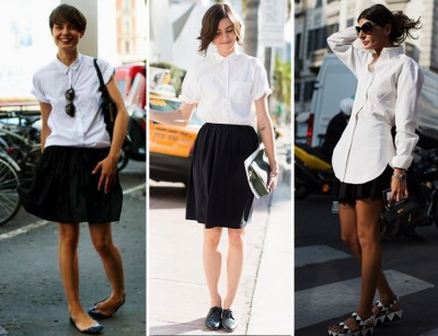 paris2london:  (via STREETSTYLE: WHITE SHIRTS | My Daily Style en stylelovely.com)