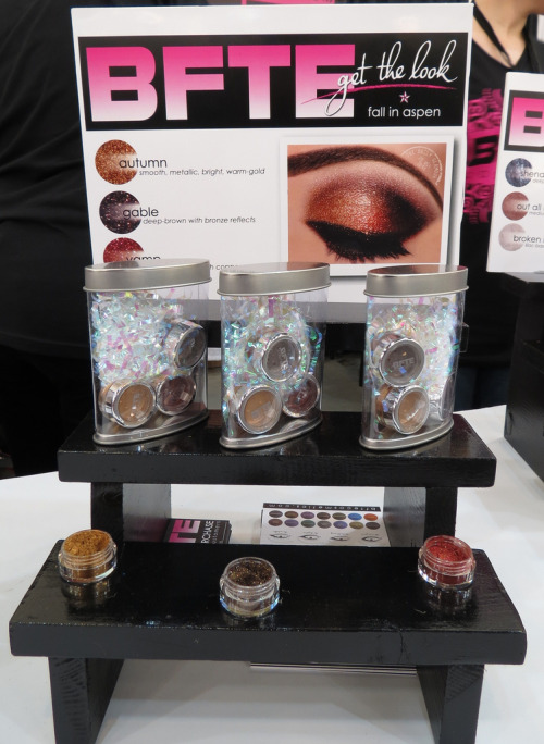 IMATS LA 2013 Recap Part One. Booths and some of the new Brand Releases. (Pictured is BFTE Cosmetics' Display)