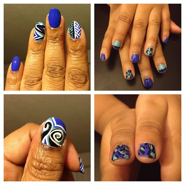 #nailart We had a #mommyandme nail session last night using Essie Butler Please and OPI Can't Find My Czechbook. #opi #essie #londonfbaby #naturalnails