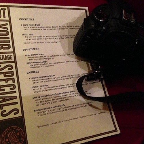 @nyajoes menu - and my camera. #dinner #wwjce