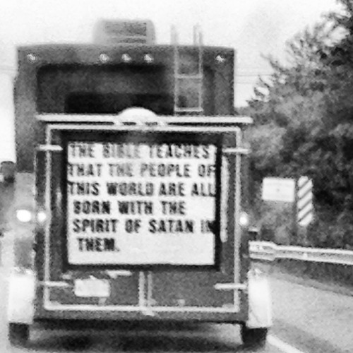 Lucifer rolled through Mass today in his rv.