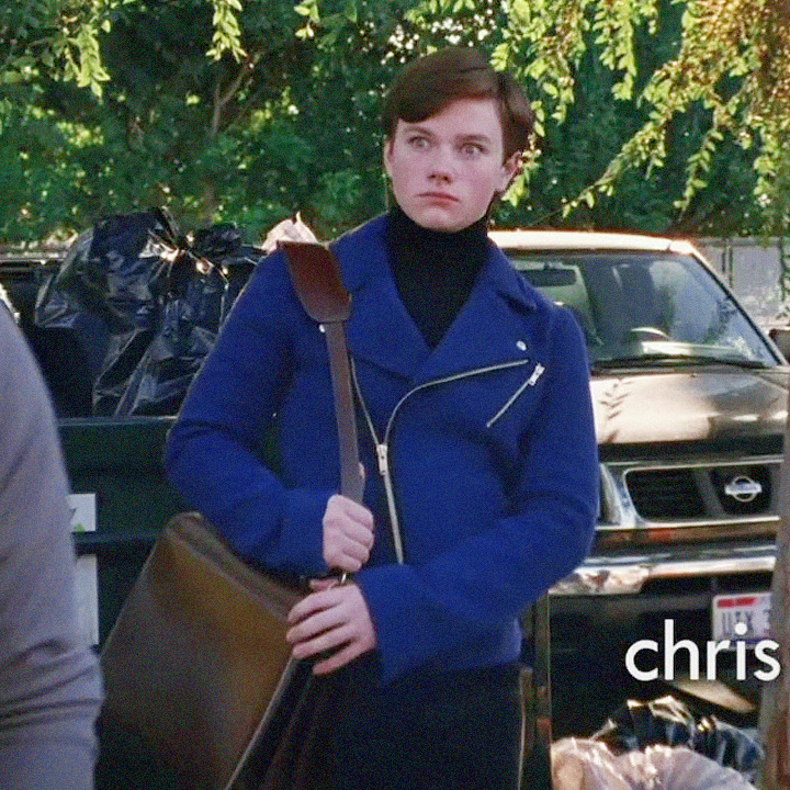 Kurt Hummel | 1.01 | #001 - Marc Jacobs Jacket | (Fashion of Glee)   Notes: He wears this outfit twice in this episode, and it's very clearly on two separate days. #Kurt Hummel#Marc Jacobs #1.01 #Pilot#Season 1#jacket#turtleneck#black#blue