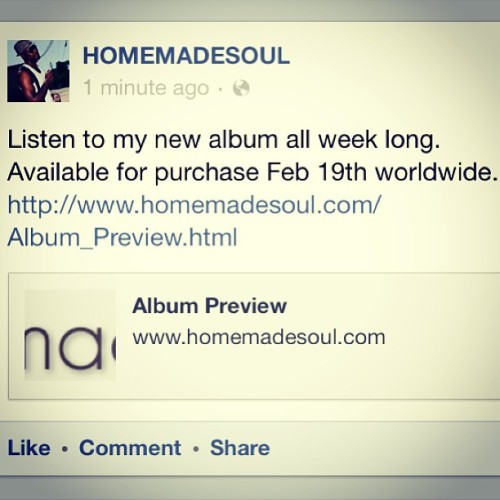 Listen to the full album here http://www.homemadesoul.com/Album_Preview.html