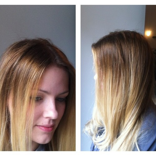 Sunday morning Ombré @moodshairsalon, @Jordon_Turner. #sundayfunday #ombre #yaletown #salon #Longweekend (at Moods Hair Salon)