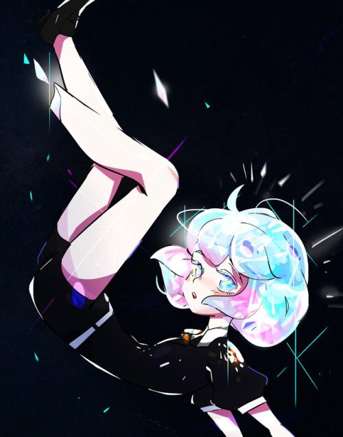 houseki no kuni diamond gemstone gems girl cute Illustration fan art anime japan