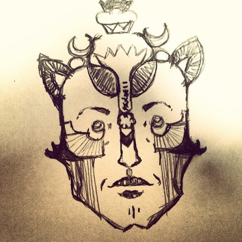 Mr king man #illustration #face #drawing #p1x1e #pencil #character