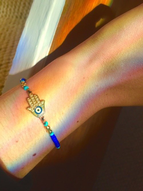 hamsa hamsa jewelry jewelry hamsa bracelet hamsahand hamsa charm evil eye keep everyone safe no evil peace love hippie hippieish hippilife rainbow reflection cheryleigh 1oveisallyouneed