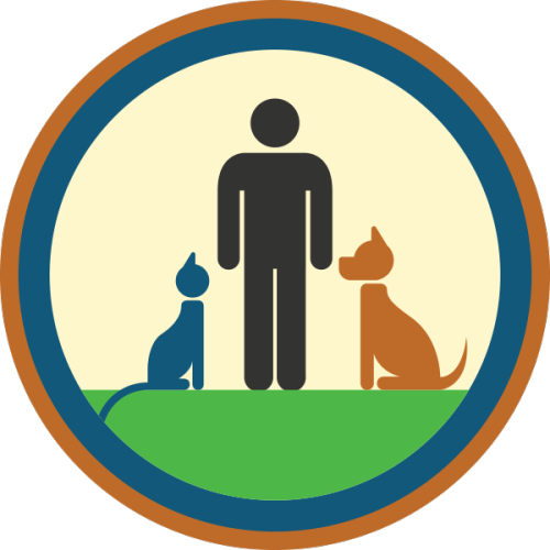 lifescouts:  Lifescouts: Pet-Owning Badge If you have this badge, reblog it and share your story! Look through the notes to read other people's stories. Click here to buy this badge physically (ships worldwide). Lifescouts is a badge-collecting community of people who share real-world experiences online.  My little ferret is the coolest guy ever. I've had cats and dogs before but my life feels blessed with him in it. He's my best pal.