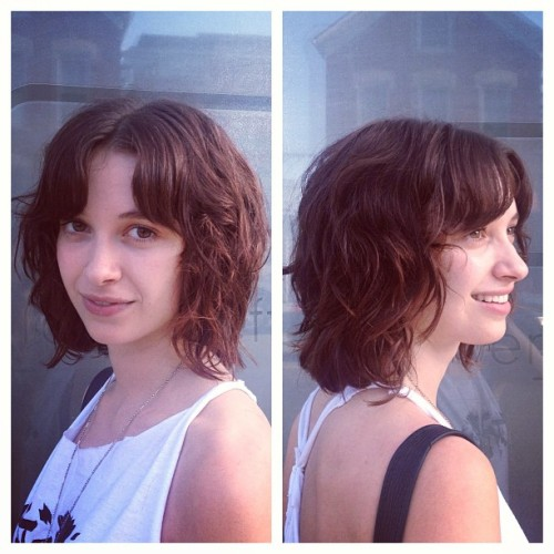 @saralila's summer ready haircut!  #curls #hair #haircut #hairbrained #shellywilson #robertjeffrey #chicago #bangstyle  (at Robert Jeffrey Hair Studio)