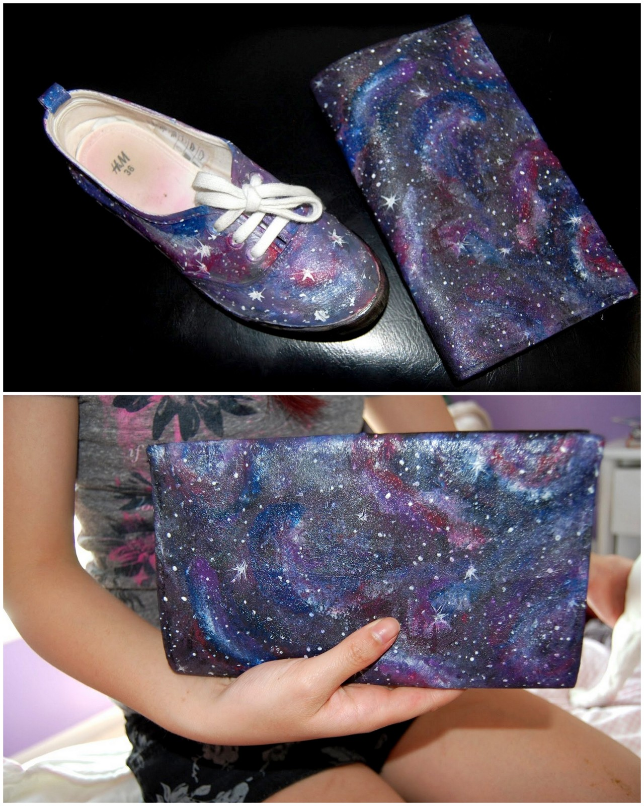 "truebluemeandyou:  DIY Best Galaxy Painting Tutorial Ever from Gloriously Chic here. Most galaxy painting tutorials just skim over the details and are really vague - but NOT this one. Very detailed and loads of photos. I really like Gloriously Chic's bog (and am so glad she initially messaged me!) because she is not a ""cutesy"" blogger and offers really good advice based on her DIY experiences. For more Galaxy DIYs go here (like copyright free NASA galaxy photos): truebluemeandyou.tumblr.com/tagged/galaxy"