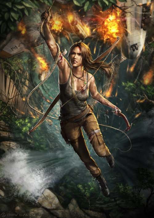 fantasy-scifi:  Tomb Raider Reborn by *DeivCalviz