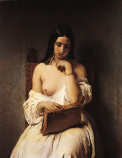 art-and-fury:  The Meditation - Francesco Hayez