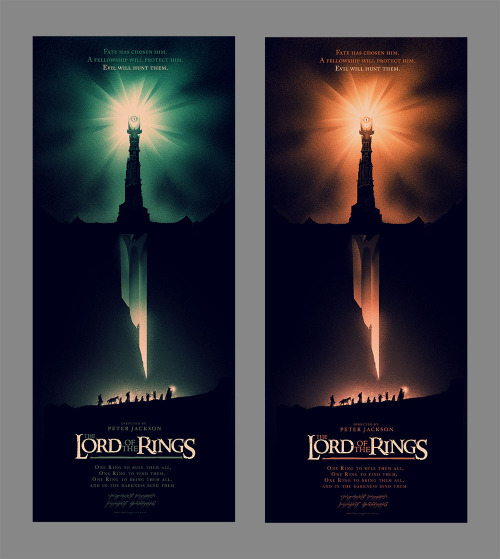 ollymoss: Lord of the rings posters by Olly Moss