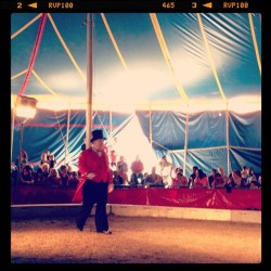 My dad, the ringmaster.  (at Davenport FL)