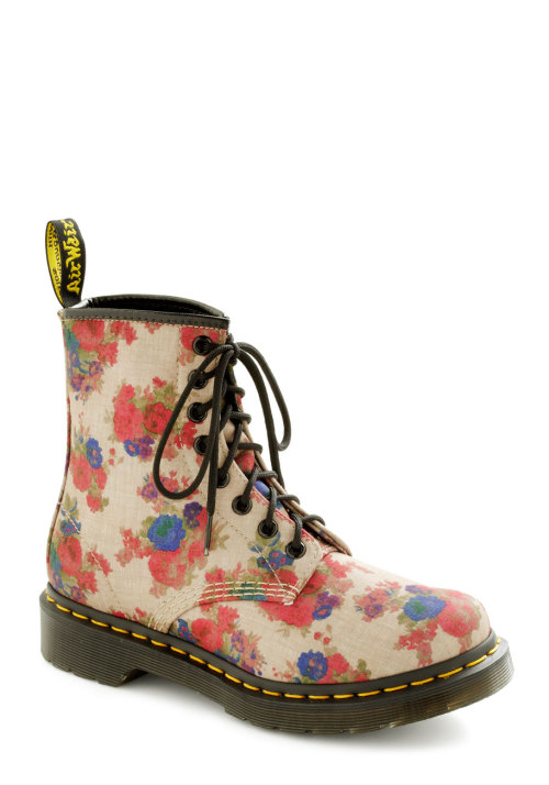 modcloth:  How do you style your Dr. Martens? I love these floral ones paired with a sundress for a fun summer look! <3 Amy, ModStylist Need styling suggestions, trend tips, or dress details? Ask a ModStylist and your question might be featured on our feed