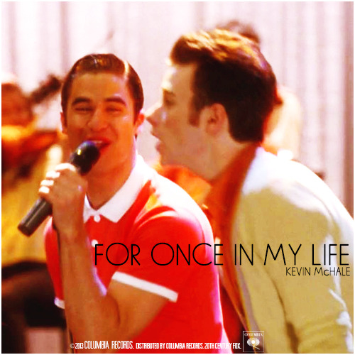 4x21 Wonder-ful | For Once In My Life Alternative Cover 'Klaine Gaze Collection'