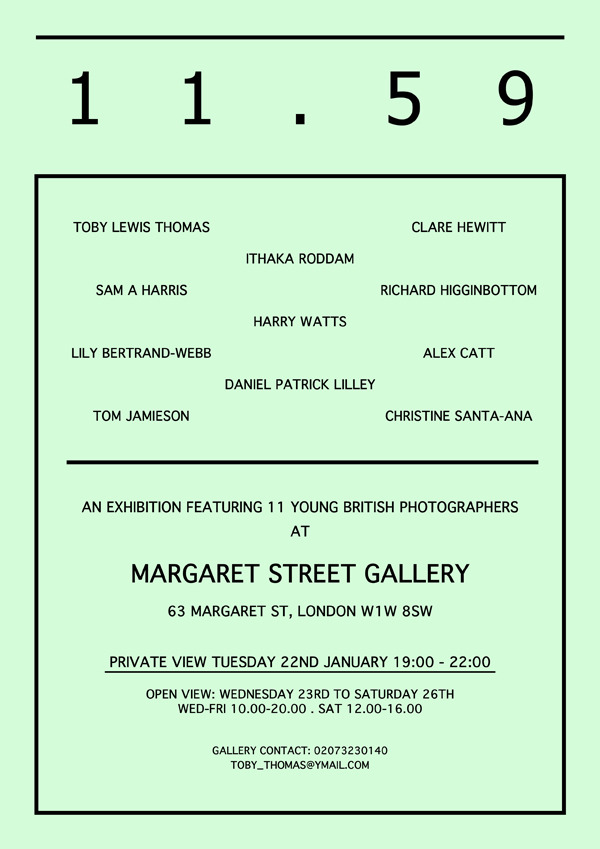 Sup internet,  My good friend Toby decided to put on an exhibition in London next week, super last minute i know, but its going to be good.   All information on the flyer above and FACEBOOK EVENT HERE. Reblog and stuff if you feel like helping us out, thanks! //