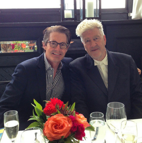 Hanging with my friend David Lynch… damn good hair! Thanks@DavidLynchFoundationfor a great afternoon!