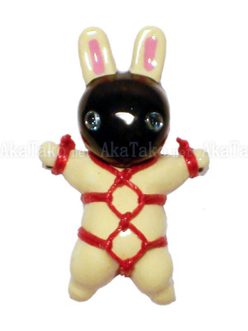 Kinbaku Bunny Pin by Kitanya Design Factory