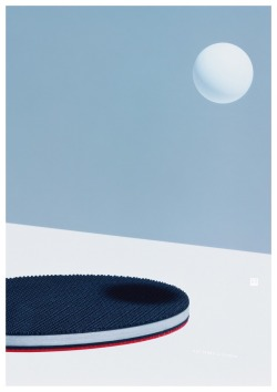 Posters for the World Ping Pong Championships (2015) by Yuri Uenishi.More: http://www.spoon-tamago.com/2016/08/09/yuri-uenishis-beautifully-minimalist-ad-for-ping-pong/