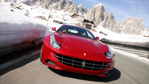 Ferrari FF front side on hd wallpapers backgrounds