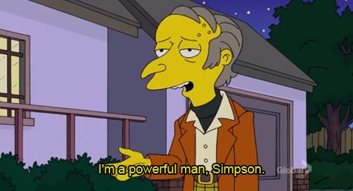 the simpsons simpsons mr burns montgomery burns *