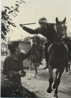 fuckyeahmarxismleninism:  This is Thatcher's Britain: Orgreave during the miners' strike.