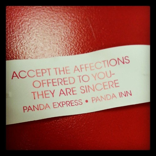 My body is ready ;-p #fortune #panda #cookie #affections #lol #sincerity #acceptance #qotd #quotes #130516
