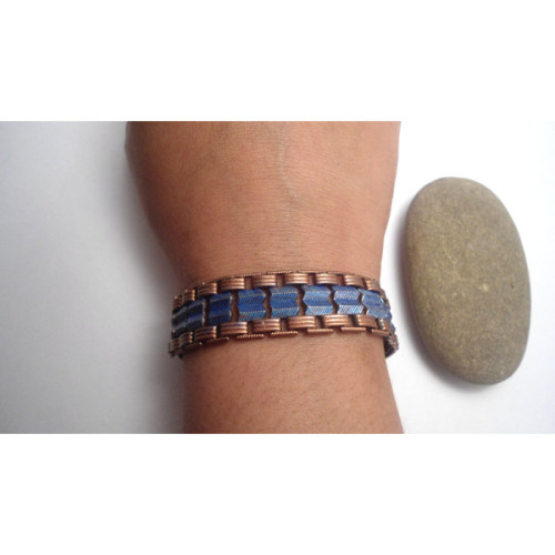 Bracelet Blue Chevron Chain Tribal Art Deco by SimoneSutcliffe   (clipped to polyvore.com)