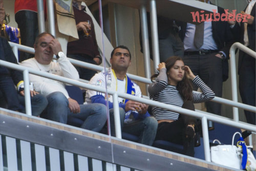 niubdder:  Irina Shayk and Cristiano Jr. watched the march between Real Madrid and Atletico Madrid in Spain. (May 17, 2013)