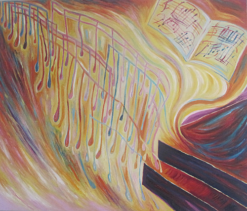 Chopin Piano Sweep Oil on canvas (2012)
