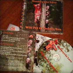 The CDs are here!  Here is our new album, The Monkeys In Love Will Pet & Cuddle You, which will be released on 4 March. Advanced copies will be on sale at our launch gig on 28 February at The Bay Horse in Manchester. MP3s will also be available online from 4 March