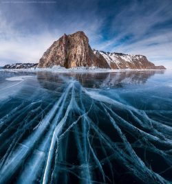 Lake Baikal, Russia These remind me of the ice veins on Ganymede, Jupiter's wettest moon.