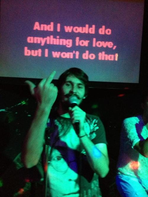 this one time I was a guy in a karaoke bar