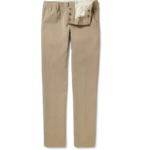It's On Sale: Incotex trousers Mr Porter's discount on sale items has gone up once again and Incotex trousers are now 70% off under the Slowear label. That puts these chinos at $87. Wool trousers are around $130-$150. As with all sale and clearance items, quantities and sizes can be a bit limited, so you'll want to look quickly if you think you're interested.  -Kiyoshi