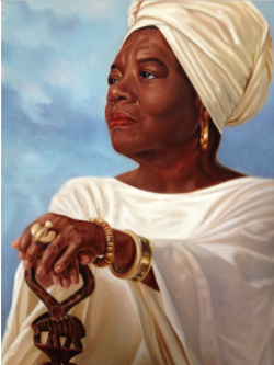 blackpoemusic:  Dr. Maya Angelou by Henry Lee Battle