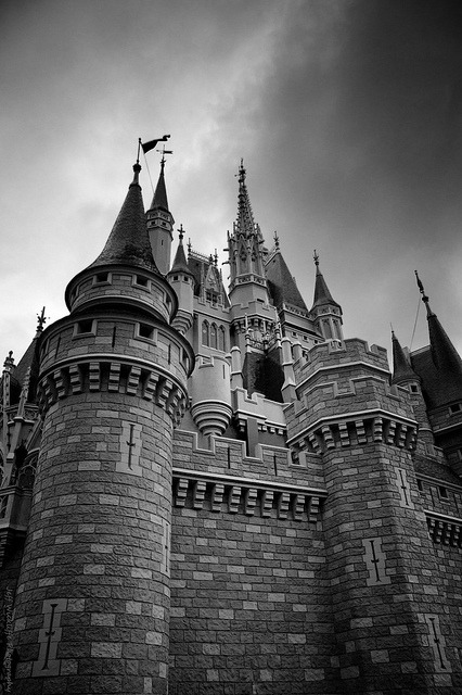 The Creepiest Place on Earth on Flickr.The dark side of Disney - My take on Cinderella's Castle at Disney World Florida on a stormy overcast day.