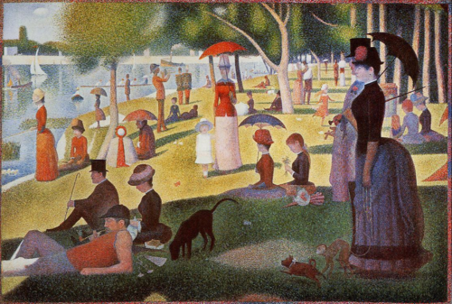 cavetocanvas:  Georges Seurat, A Sunday Afternoon on the Island of La Grande Jatte, 1884-1886