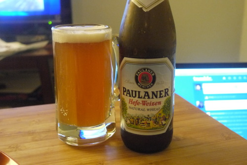 DAY 11 Paulaner Hefe-Weizen : Paulaner Brauerei, Germany : 5.5% ABV Didn't get around to drinking this one over the weekend.  Yet another solid German hefe-weizen.  It's getting to the point that I almost want to taste a bad one.
