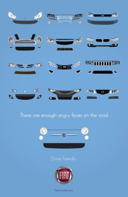 "helloyoucreatives:  Drive friendly. Think ""Drive Happy"" would have been a better line. Still friendly is nice enough."